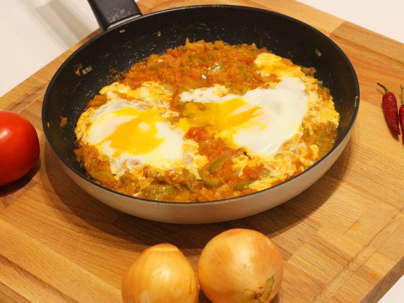 Menemen Rezept Vegetarisch - Türkisches Melemen