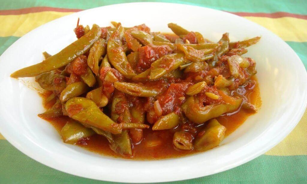Schnittbohnen mit Olivenöl - Zeytinyağlı Taze Fasülye
