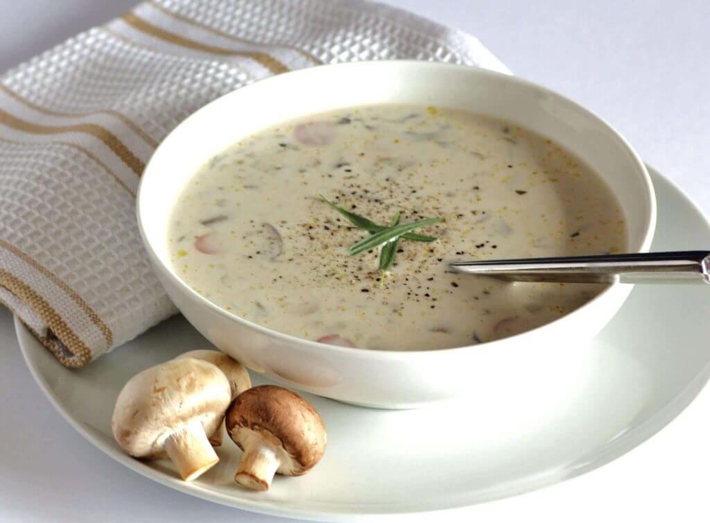 Cremige Pilzsuppe - Kremalı Mantar Çorbası