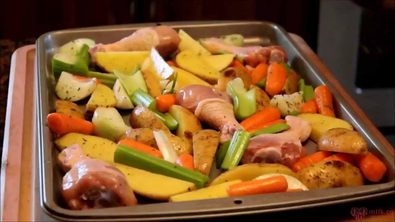 Hähnchen Gemüse Auflauf -Fırında Sebzeli Tavuk