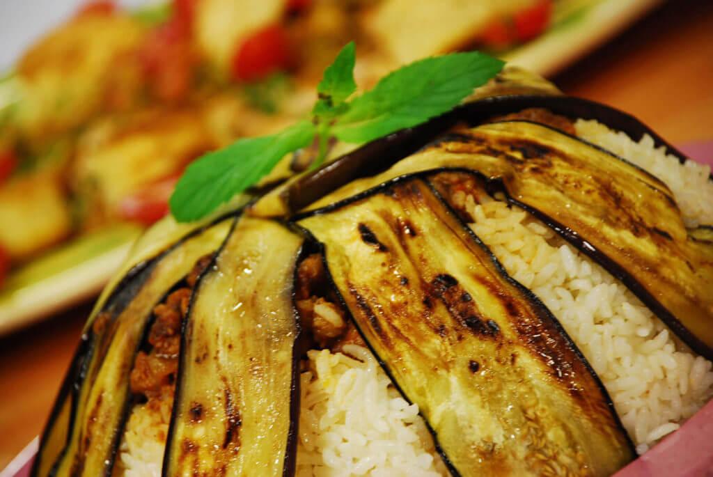 Reis mit Auberginen - Patlıcanlı Pilav