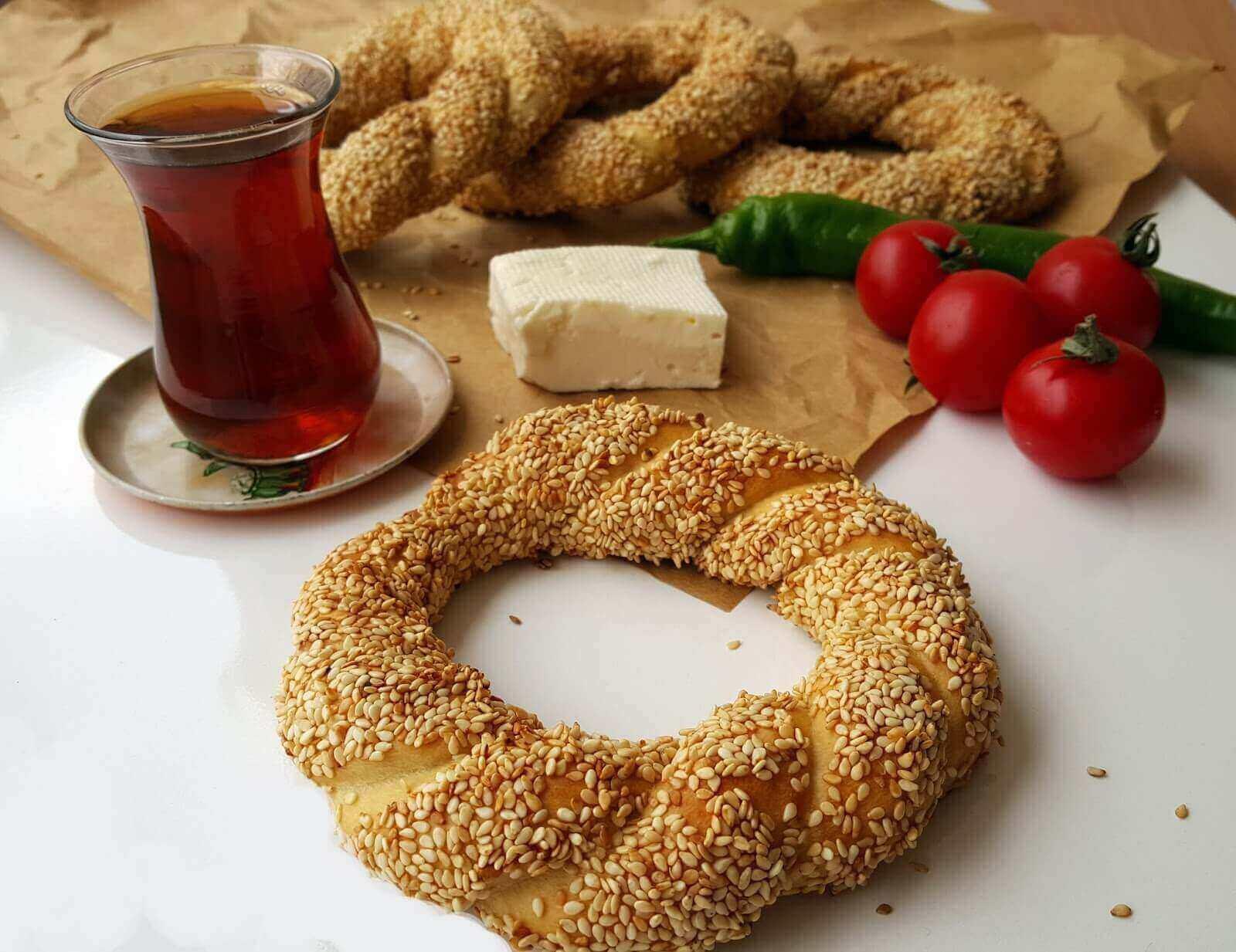 Türkische Sesamringe - Simit