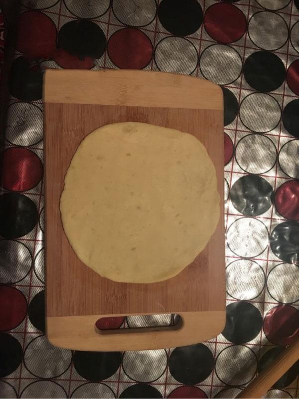 Gebäck mit Kartoffelfüllung Rezept - Patatesli Ay Çöreği Tarifi