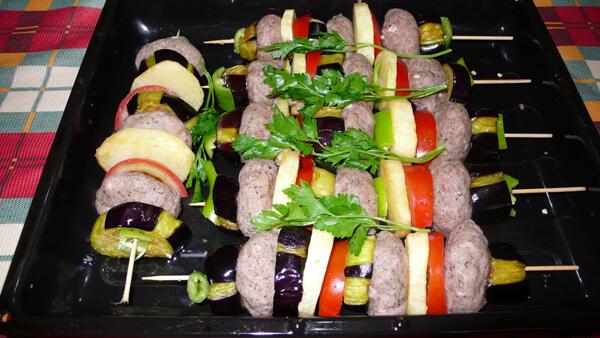 Auberginen Spieße Rezept - Patlıcan Şaşlık Tarifi