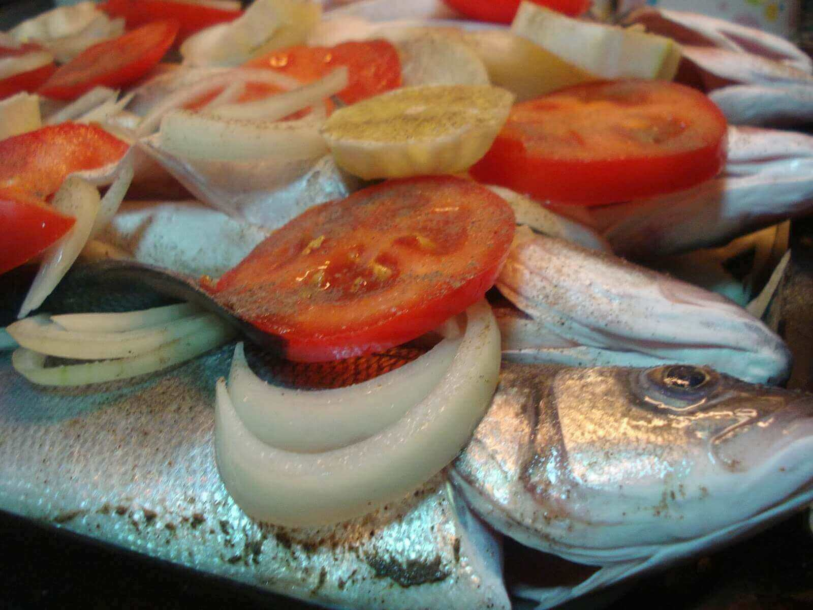 Blaufisch im Ofen - Fırında Lüfer