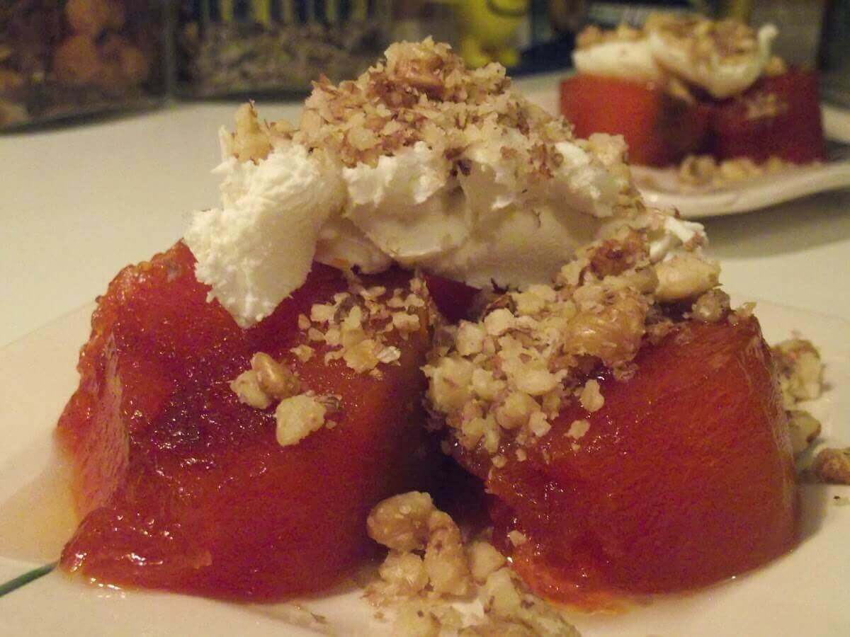 Kürbis Dessert mit Rahm - Kaymaklı Kabak Tatlısı