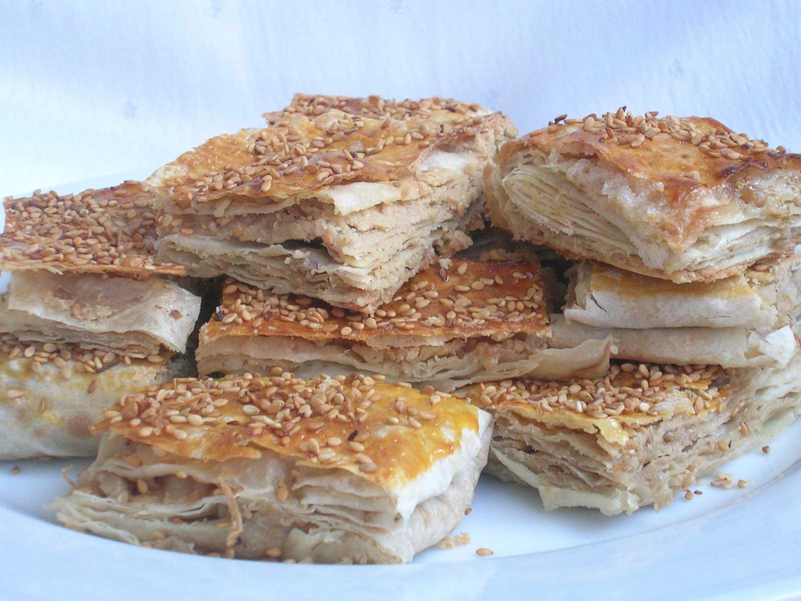 Gebäck mit Sesammus - Tahinli Çörek