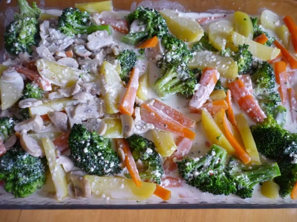 Gemüse-Auflauf mit Champignons Rezept -Fırında Sebzeli Mantar Tarifi