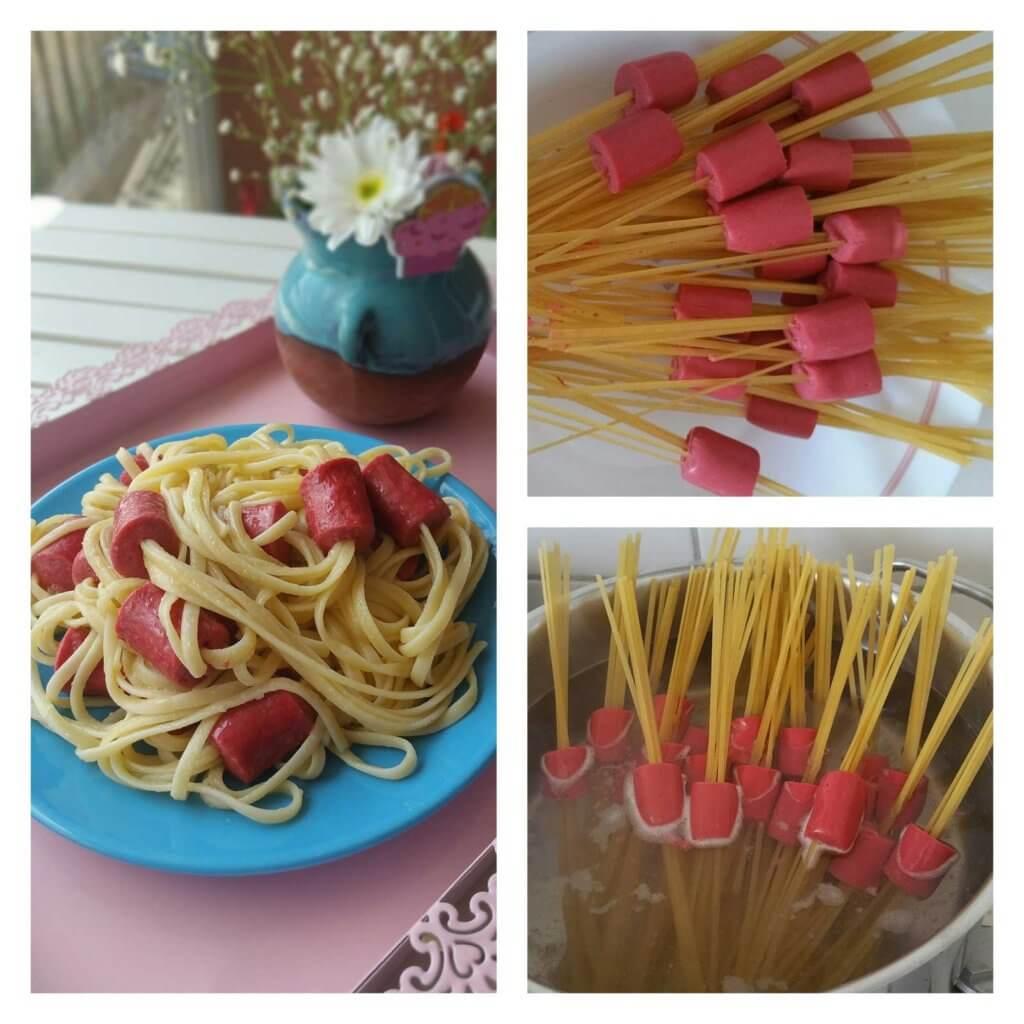 Spaghetti mit Würstchen Rezept - Sosisli Makarna Tarifi