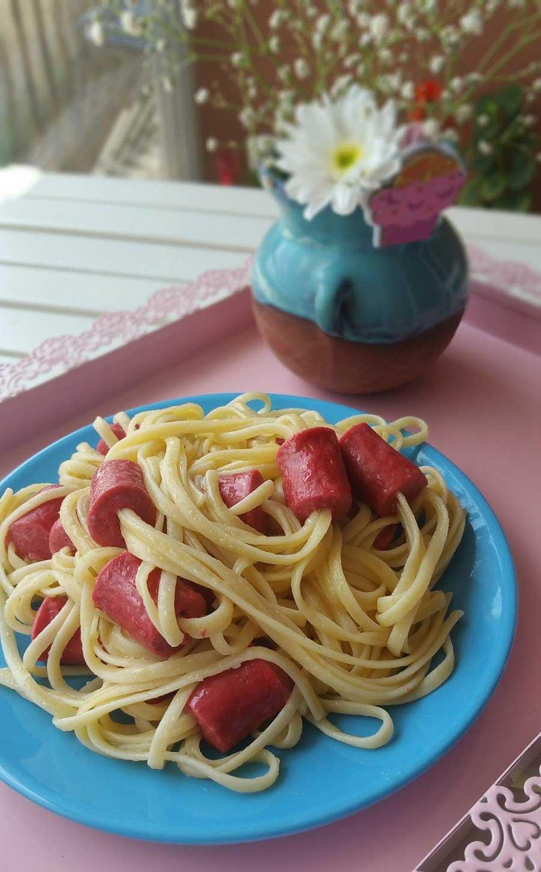 Spaghetti mit Würstchen - Sosisli Makarna