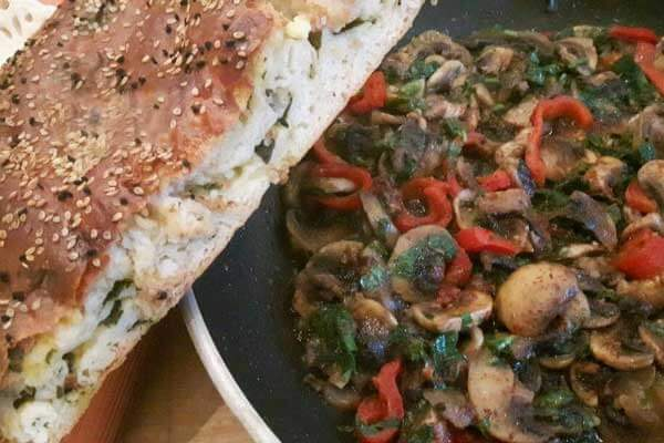 Champignon-Salat - Mantar Salatası