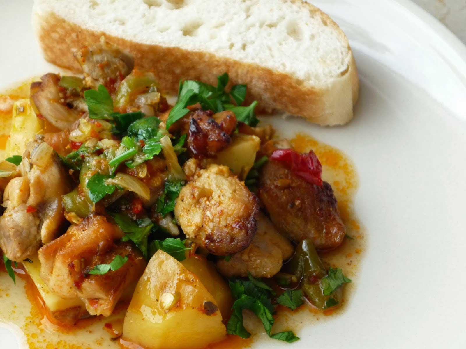 Hähnchen mit Kartoffel - Patatesli Tavuk Yemeği