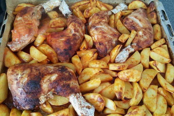 Hähnchen und Kartoffel im Ofen - Fırında Tavuk Patates