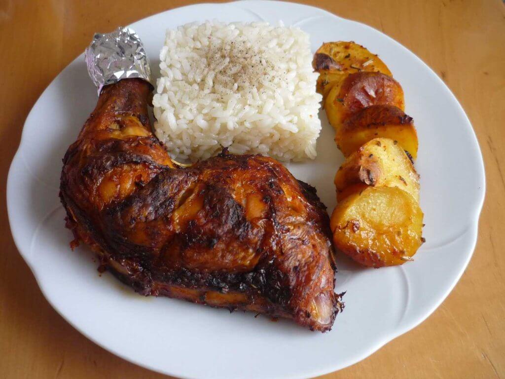 Hähnchenschenkel im Ofen - Fırında Tavuk Budu