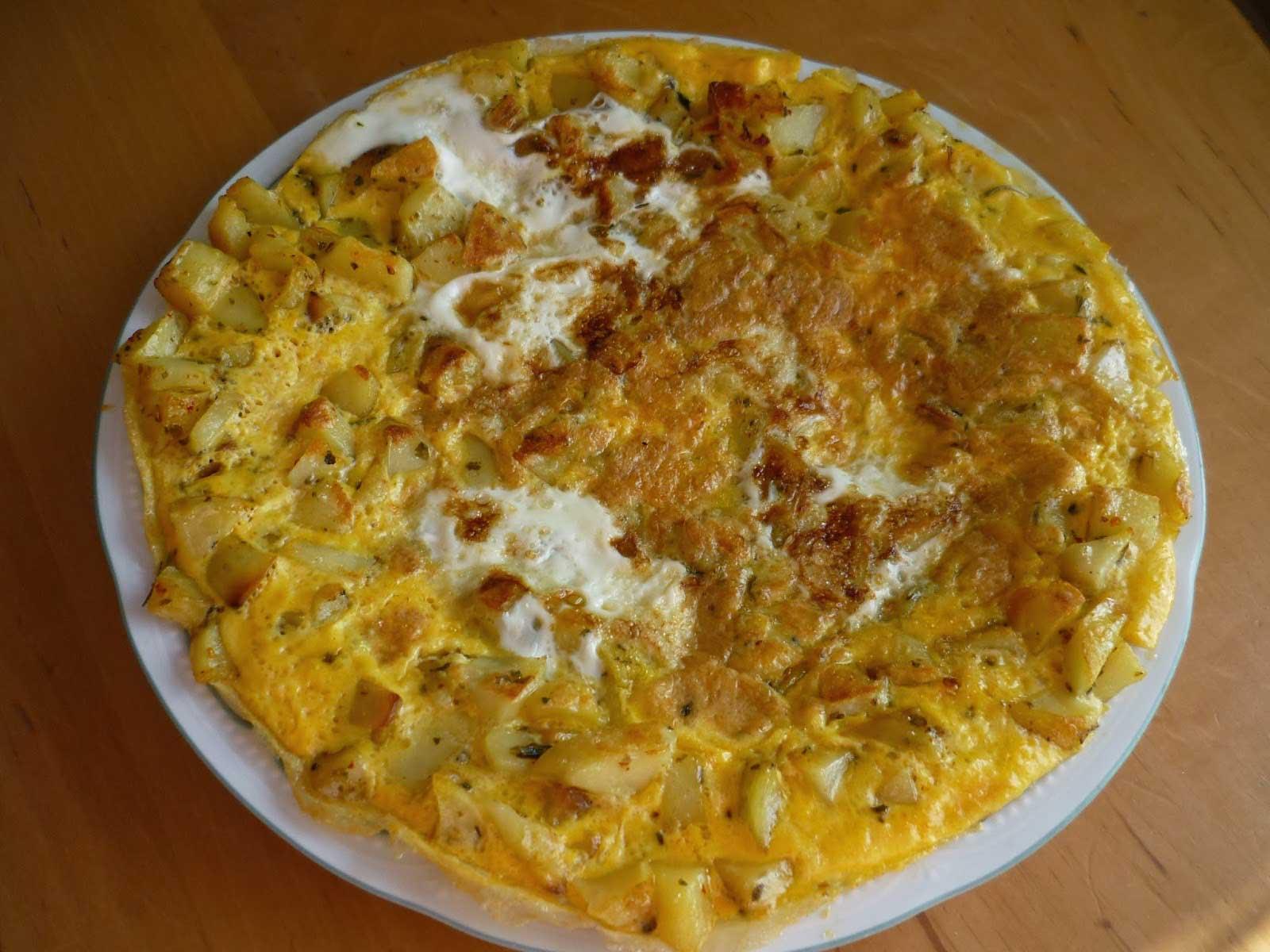 Photo of Omelett mit Kartoffel – Patatesli Omlet