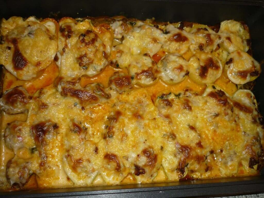 Zucchini, Kartoffel, Paprika und Champignons überbacken - Sebze Graten