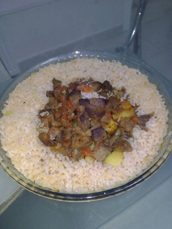 Reis mit Rindfleisch - Etli Pilav