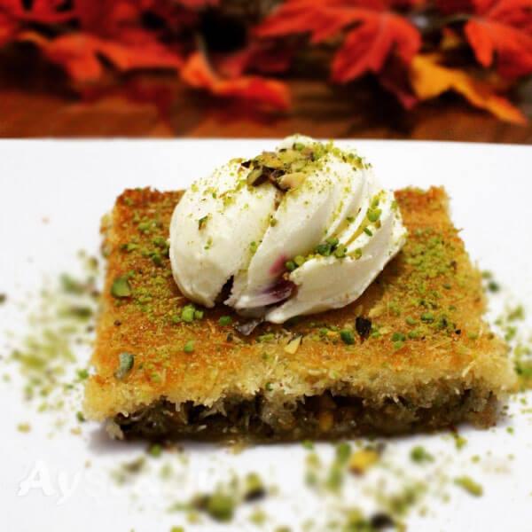 Fadenteig Dessert mit Nüssen - Fıstıklı Kadayıf