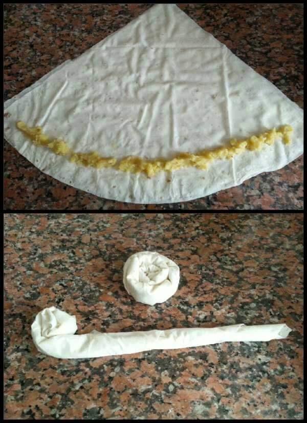 Börek mit Kartoffel - Patatesli Gül Böreği