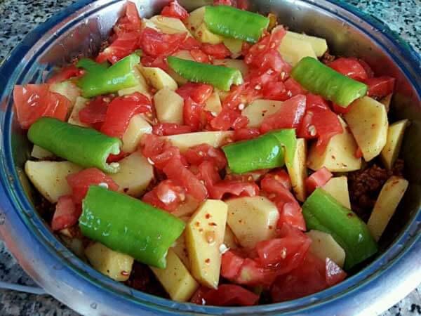 Kartoffel mit Hackfleisch - Kıymalı Patates
