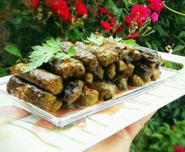 Eingerollte Weinblätter mit Hackfleisch - Etli Yaprak Sarması