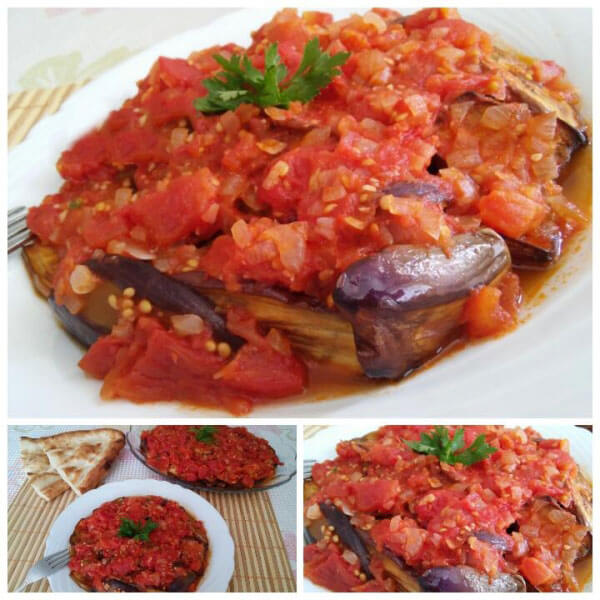 Auberginen mit Soße - Soslu Patlıcan