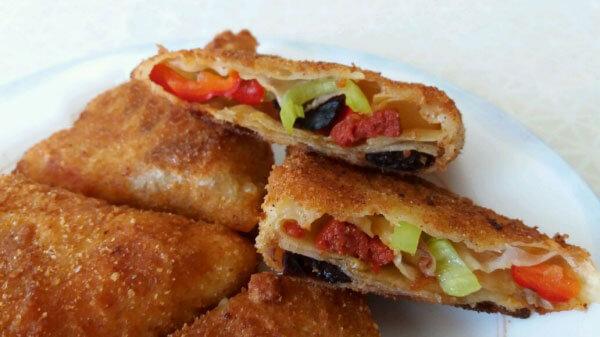 Börek mit Paprika - Kahvaltılık Biberli Börek