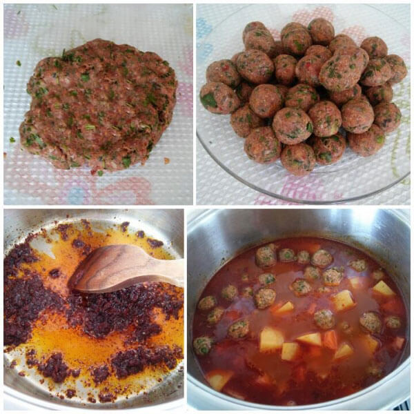 Frikadellen Eintopf mit Kartoffel - Patatesli Sulu Köfte