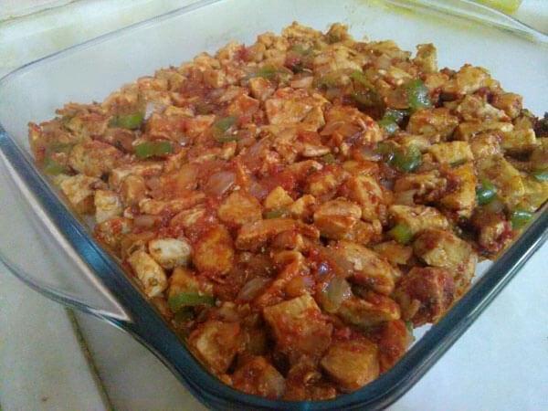 Hähnchen und Kartoffel aus dem Ofen - Tavuklu Patates Oturtma