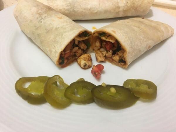 Türkische Wraps mit Hähnchen - Tavuk Tantuni