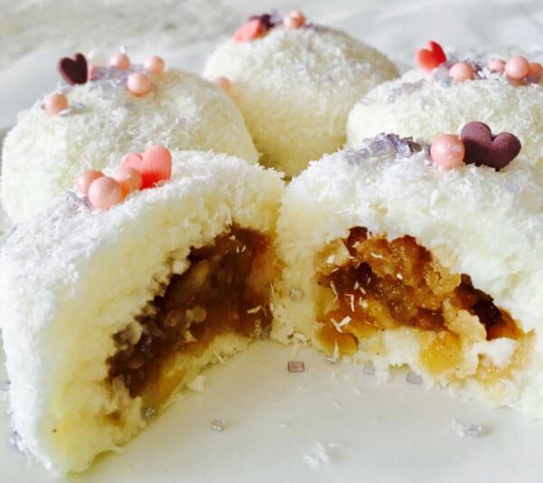 Überraschungsbällchen mit Apfelfüllung - Elmalı Sürpriz Toplar
