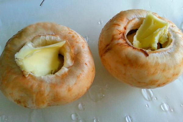 Gefüllte Champignons - Mantar Dolması