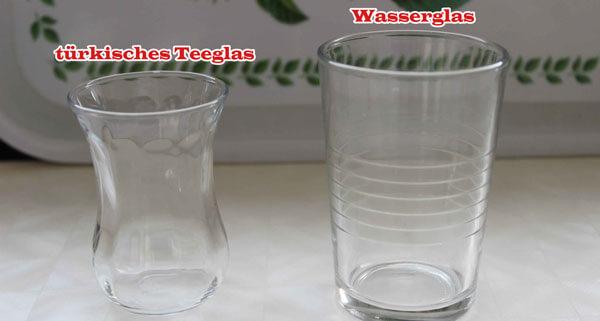 Rezeptmengen Glass
