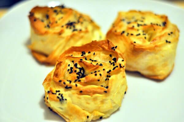 Börek mit Porree - Pırasalı Gül Böreği