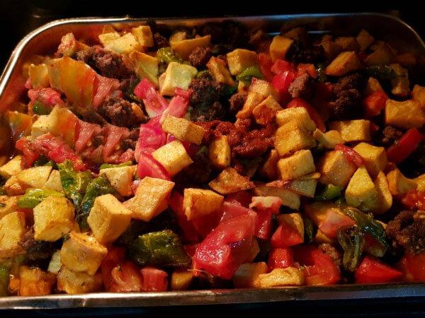 Frikadellen und Kartoffel aus dem Ofen - Fırında Köfte Patates