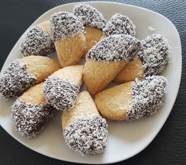 Kekse mit Kokosnuss - Hindistancevizli Kurabiye
