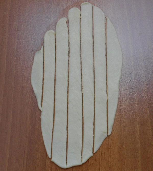 Türkische Börek - Şeritli Poğaça