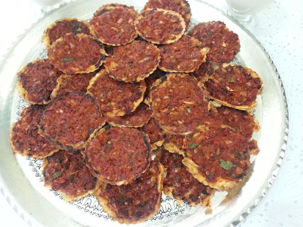 Türkische mini Pizza - Fındık Lahmacun