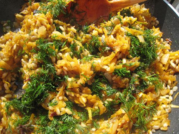 Gefüllte Zucchini mit Kürbis - Balkabaklı Kabak Dolması
