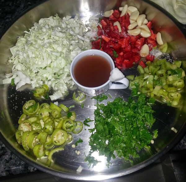 Eingelegte Auberginen - Patlıcan Turşusu