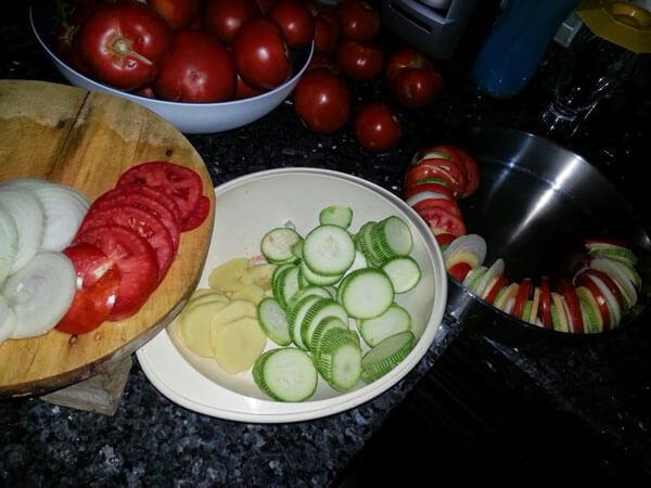Gemüsen aus dem Ofen - Fırında Sebze Kızartması