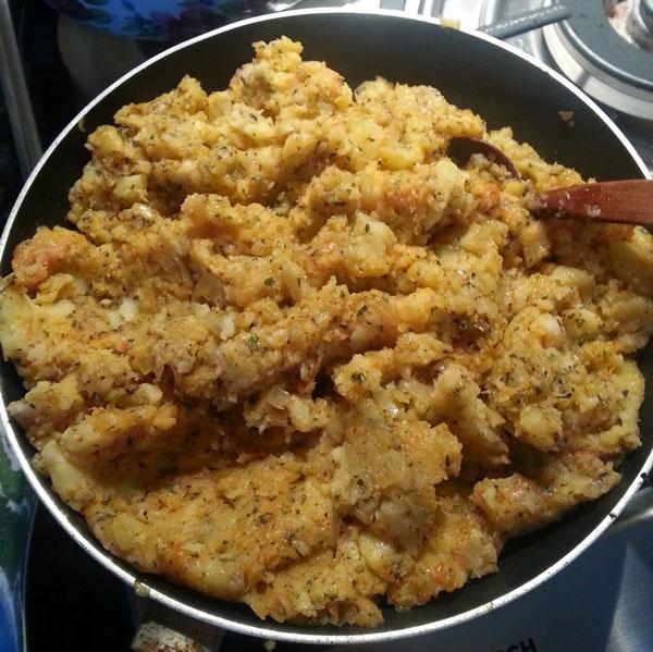 Türkisches Gebäck mit Kartoffel - Patatesli Kır Pidesi