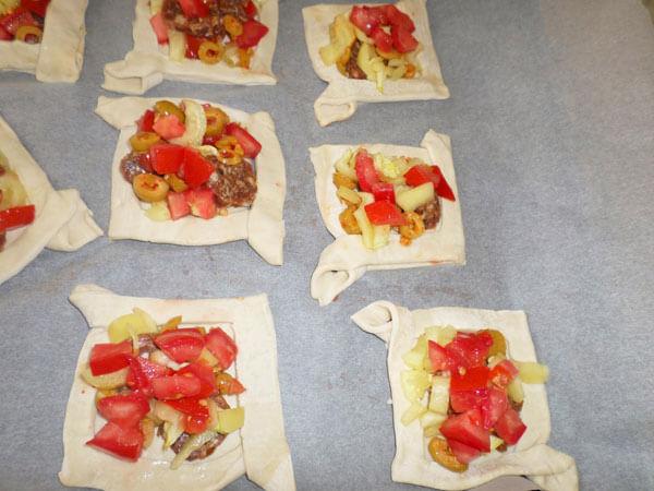 Blätterteig mit Gemüse - Sebzeli Milföy