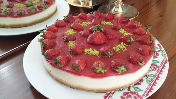 Photo of Cheesecake mit Erdbeeren – Çilekli Cheesecake