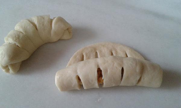 Gebäck mit Kartoffel - Patatesli Tırtıl Poğaça