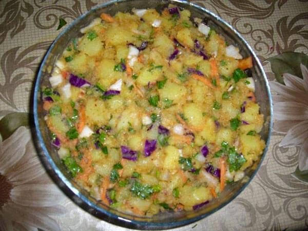Kartoffelsalat - Leziz Patates Salatası