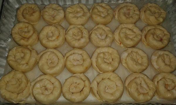 Türkisches Gebäck mit Kartoffel - Patatesli Gül Böreği