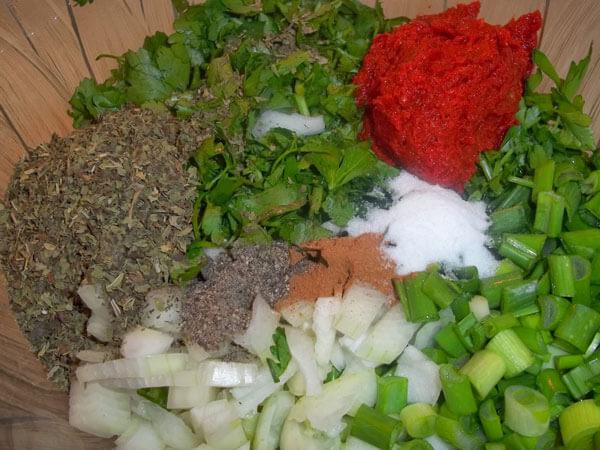 Gefüllte getrocknete Auberginen - Kuru Patlıcan Dolması
