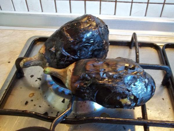 Gegrillte Auberginen mit Joghurt - Közlenmiş Yoğurtlu Patlıcan