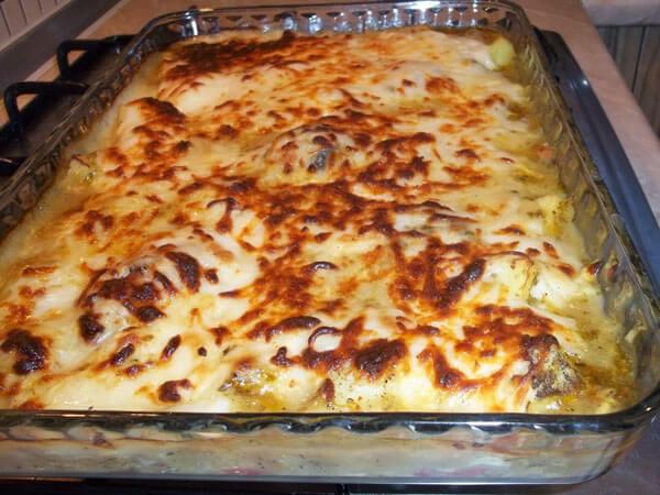 Hähnchen mit Bechamelsauce und Kartoffel - Beşamelli Patatesli Tavuk